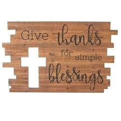 Give Me Thanks Plaque - LI11238
