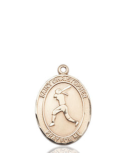 St. Christopher/Softball Medal - FN8145KT