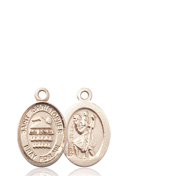 St Christopher Swimming Medal Fn9157kt Michigan
