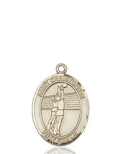 St. Christopher/Volleyball Medal - FN8138KT