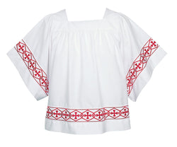 Banded Altar Server Surplice with Square Yoke -  UT113B