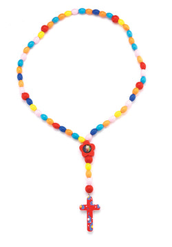 Primary Color Wood Rosary - TA1186MC