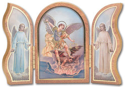 Gold Embossed St Michael Triptych - TA1205330