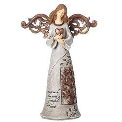 Angel Holding Heart with Tree of Life - LI12386