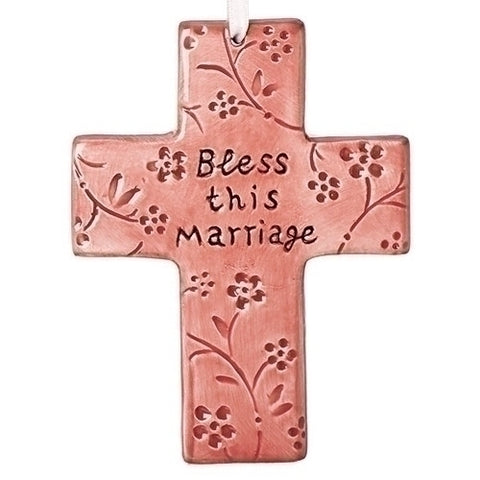Pink Bless This Marriage Cross - LI12436