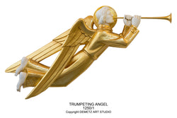 Trumpeting Angel - Ivory/Gold - HD12501