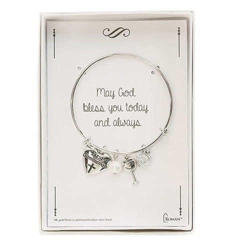 Silver First Communion Bracelet - LI12737