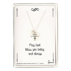 Silver First Communion Necklace - LI12776