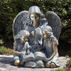 Angel with Kids Garden Statue - LI13240