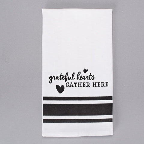 Grateful Hearts Gather Here Towel - LI13630