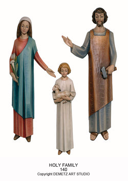 Holy Family - 3/4 Relief - HD140