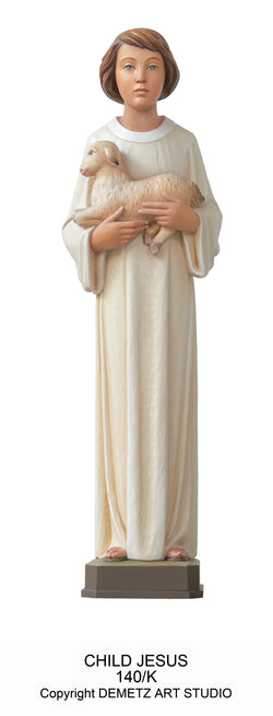Holy Child Holding The Lamb - Full Round Figure - HD140K