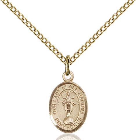 Our Lady of All Nations Medal - FN9242GF18GF