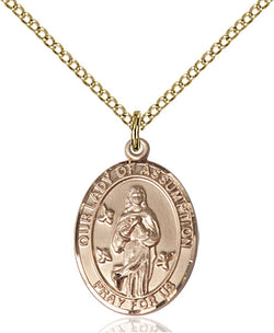 Our Lady Of Assumption Medal - FN8388GF18GF