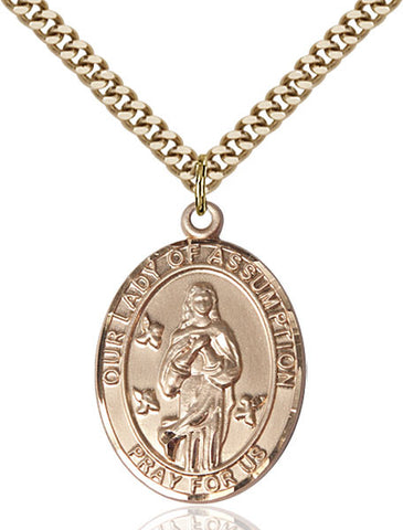 Our Lady Of Assumption Medal - FN7388GF24G