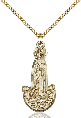 Our Lady of Fatima Medal - FN5931GF18GF