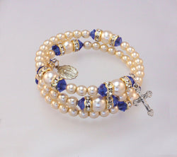Adult Blue Zircon (Dec) Bracelet - HX14298/ZC