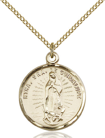 Our Lady of Guadalupe Medal - FN2075GF18GF