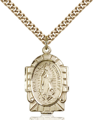 Our Lady of Guadalupe Medal - FN2080GF24G