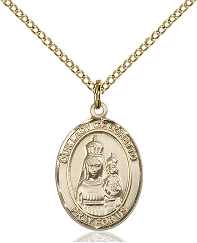 Our Lady of Loretto Medal - FN8082GF18GF