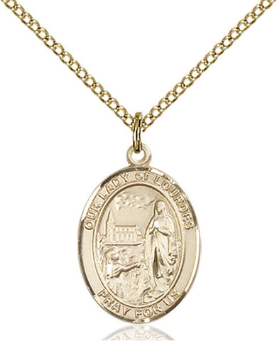Our Lady of Lourdes Medal - FN8288GF18GF