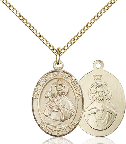 Our Lady of Mount Carmel Medal - FN8243GF18GF