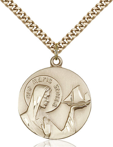 Our Lady Star of the Sea Medal - FN4232GF24G