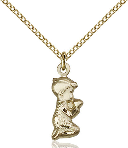 Praying Boy Medal - FN4263GF18GF