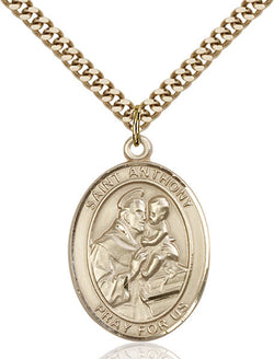 St. Anthony of Padua Medal - FN7004GF24G