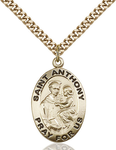 St. Anthony of Padua Medal - FN4021GF24G