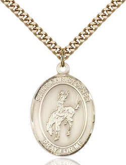 St. Christopher / Rodeo Medal - FN7192GF24G