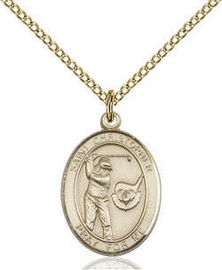 St. Christopher/Golf Medal - FN8506GF18GF