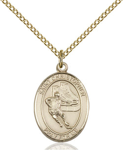 St. Christopher/Hockey Medal - FN8504GF18GF