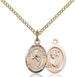 St. Christopher/Martial Arts Medal - FN9158GF18GF