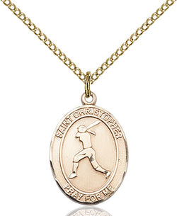 St. Christopher/Softball Medal - FN8145GF18GF