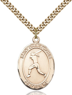 St. Christopher/Softball Medal - FN7145GF24G