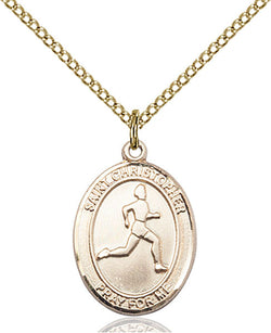 St. Christopher/Track & Field Medal - FN8149GF18GF
