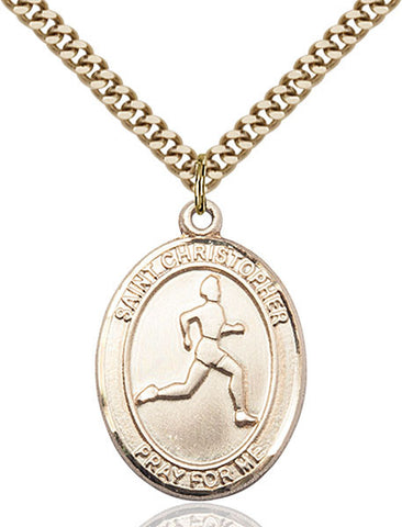 St. Christopher/Track & Field Medal - FN7149GF24G