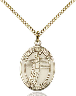 St. Christopher/Volleyball Medal - FN8138GF18GF