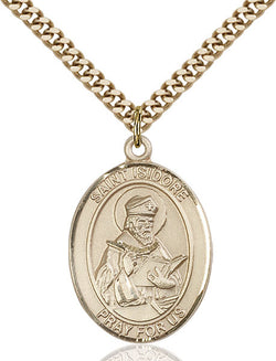 St. Isidore of Seville Medal - FN7049GF24G
