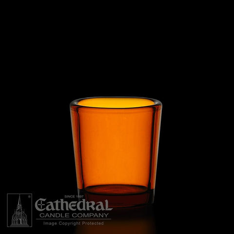 Amber 15 Hour Votive Glasses - YS202-AM