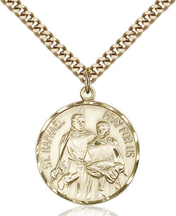 St. Raphael the Archangel Medal - FN0409GF24G