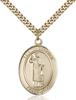 St. Stephen the Martyr Medal - FN7104GF24G
