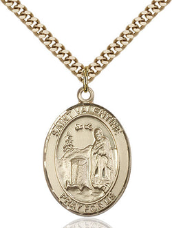 St. Valentine of Rome Medal - FN7121GF24G