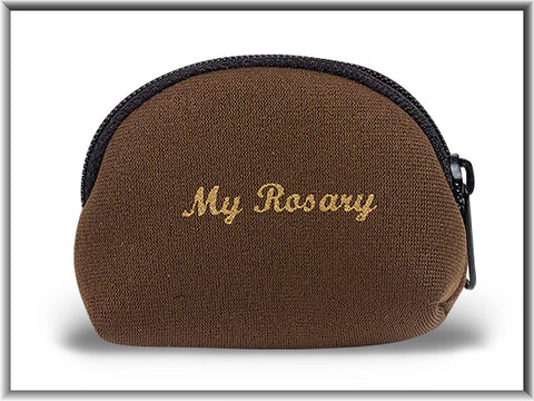 Brown Neoprene Rosary Case -TA168605