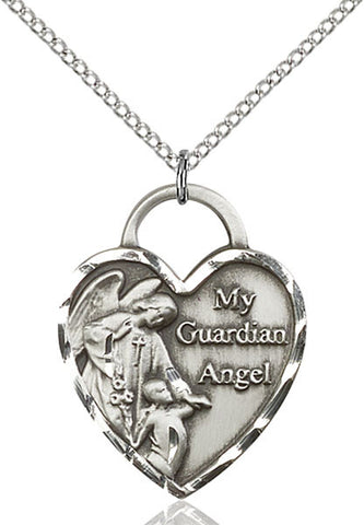Guardian Angel Heart Medal - FN3302SS18SS