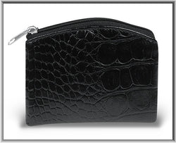 Black Crocodile Pattern Rosary Case - TA169101