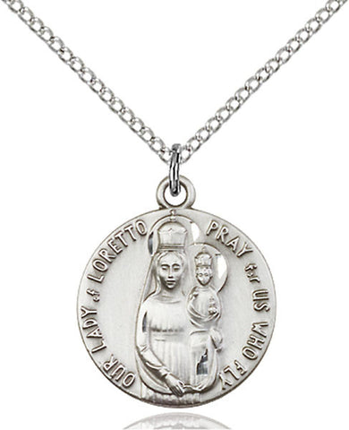 Our Lady of Loretto Medal - FN0826PLSS18SS
