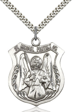 St. Michael the Archangel Medal - FN5695SS24S