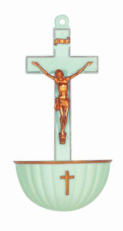 Luminous Crucifix Holy Water Font-TA1922LM